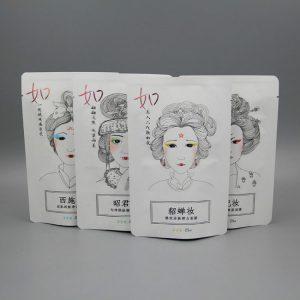 四大美女牛皮纸铝箔烫金包装袋